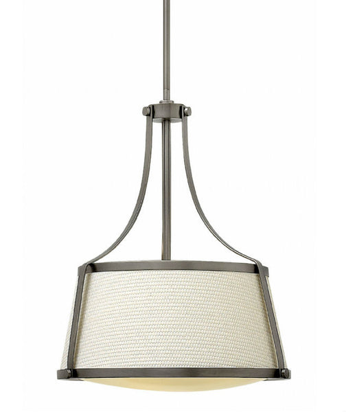 Charlotte Pendant | Antique Nickel - Magins Lighting Fabric Pendant Lead Time: 5 - 6 Weeks Magins Lighting
