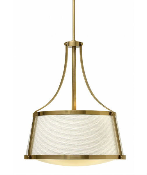 Charlotte Pendant | Brushed Caramel - Magins Lighting Fabric Pendant Lead Time: 5 - 6 Weeks Magins Lighting