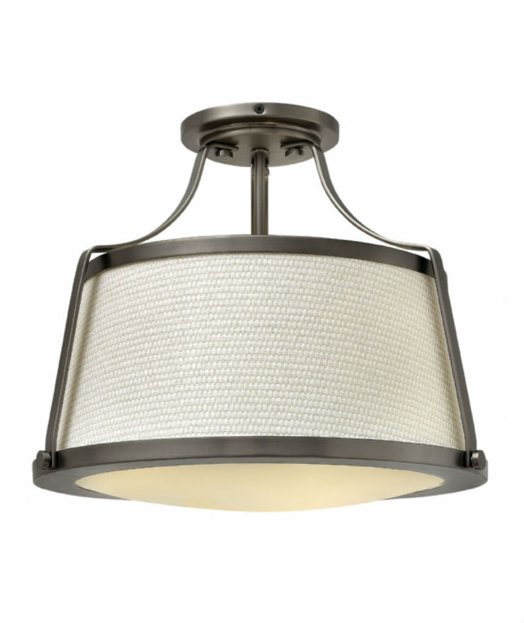 Charlotte Semi Flush Ceiling Light / Ant. Nickel - Magins Lighting Flush Mount Lead Time: 5 - 6 Weeks Magins Lighting