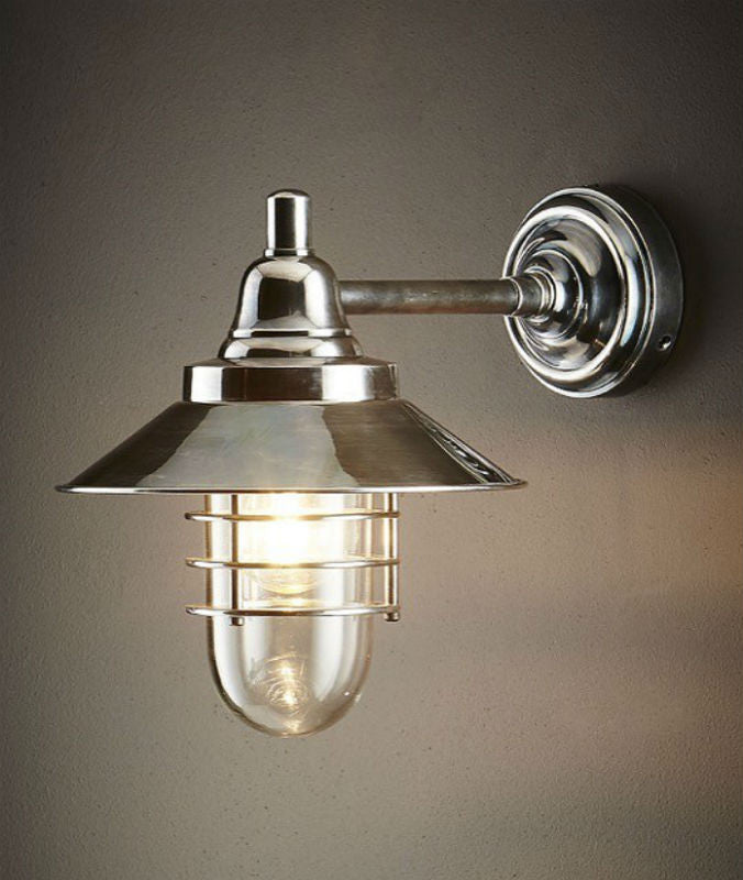 Clark Wall Lamp | Antique Nickel - Magins Lighting Exterior Wall Lamps Usually dispatches within 2-3 days. Please contact us to confirm prior to placing your order. Magins Lighting