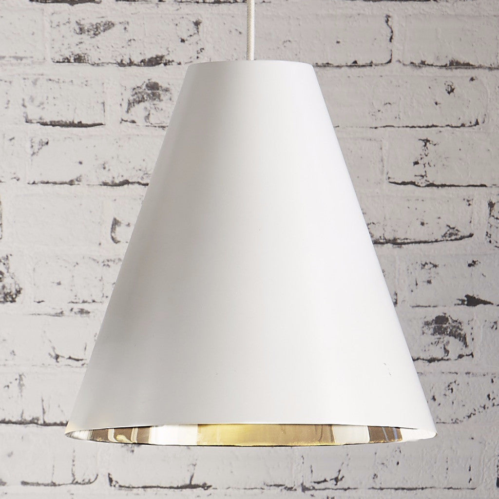 Conrad Pendant | White & Silver - Magins Lighting Pendant Emac & Lawton Magins Lighting