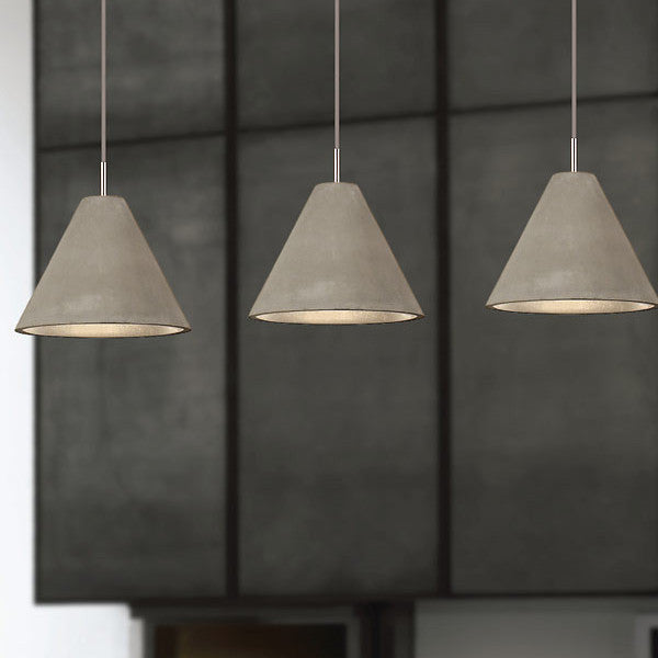 Concrete Pendant | Conical - Magins Lighting Wood and Concrete Pendants Lead Time: 1 - 2 Weeks Magins Lighting