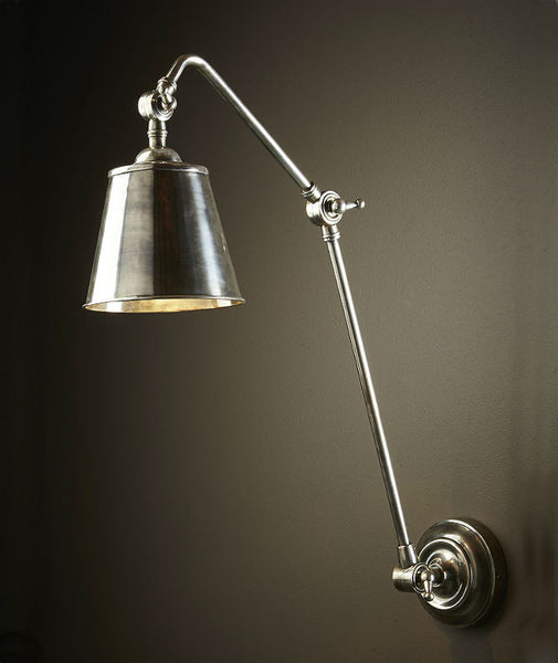 Cromwell | Aged Nickel - Magins Lighting Interior Wall Lamps Usually dispatches within 2-3 days. Please contact us to confirm prior to placing your order. Magins Lighting
