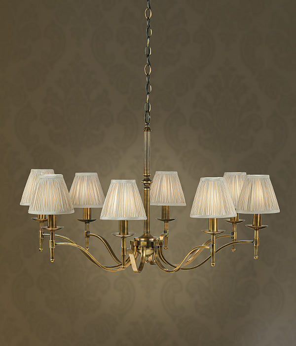 Stanford 8 Light Chandelier | Oxodised Brass - Magins Lighting Chandelier Lead Time: 1 - 2 Weeks Magins Lighting