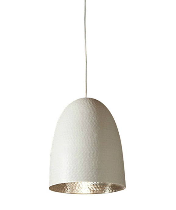 Dolce Pendant | White with Silver Lining - Magins Lighting Pendant Usually dispatches within 2-3 days. Please contact us to confirm prior to placing your order. Magins Lighting