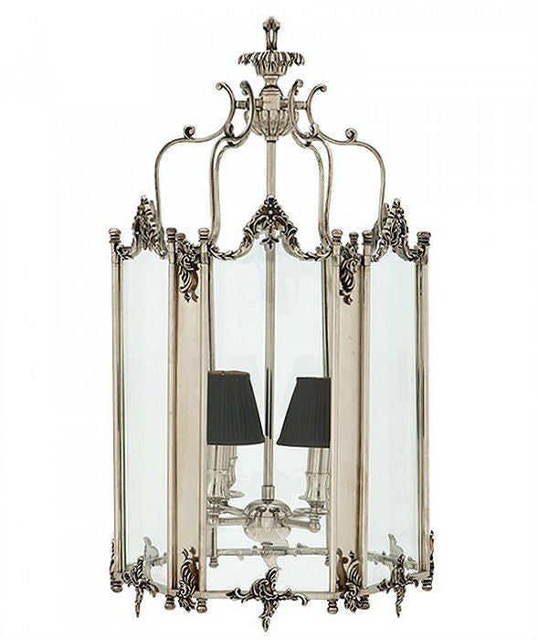 Dufour Lantern | Nickel - Magins Lighting Lantern Lead Time: 5 - 6 Weeks Magins Lighting