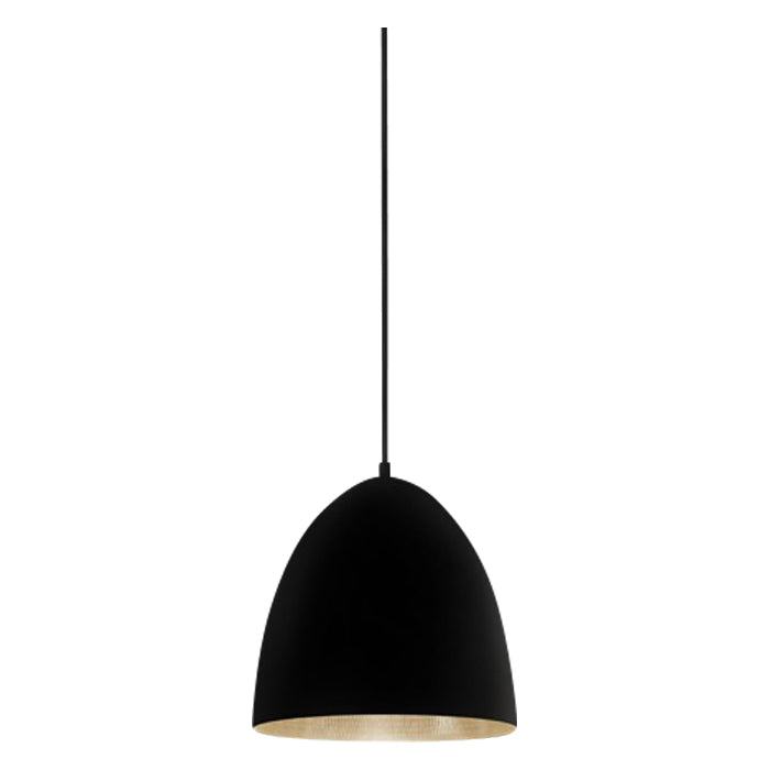 Egg Pendant | Black & Silver - Magins Lighting Pendant Usually dispatches within 2-3 days. Please contact us to confirm prior to placing your order. Magins Lighting