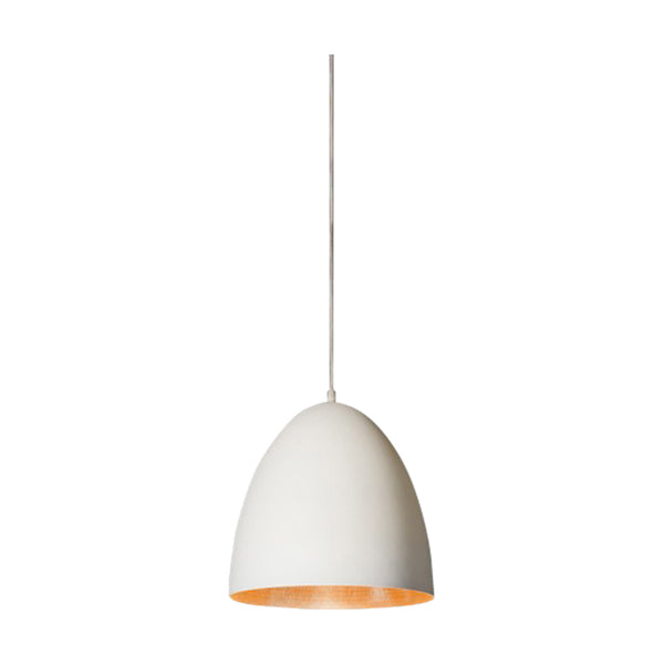 Egg Pendant | White & Brass - Magins Lighting Pendant Usually dispatches within 2-3 days. Please contact us to confirm prior to placing your order. Magins Lighting