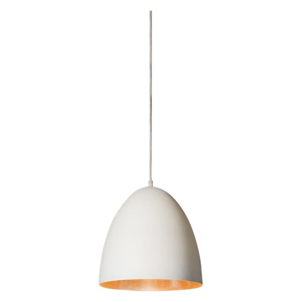 Egg Pendant | White & Copper - Magins Lighting Pendant Usually dispatches within 2-3 days. Please contact us to confirm prior to placing your order. Magins Lighting