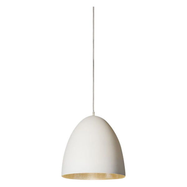 Egg Pendant | White & Silver - Magins Lighting Pendant Usually dispatches within 2-3 days. Please contact us to confirm prior to placing your order. Magins Lighting