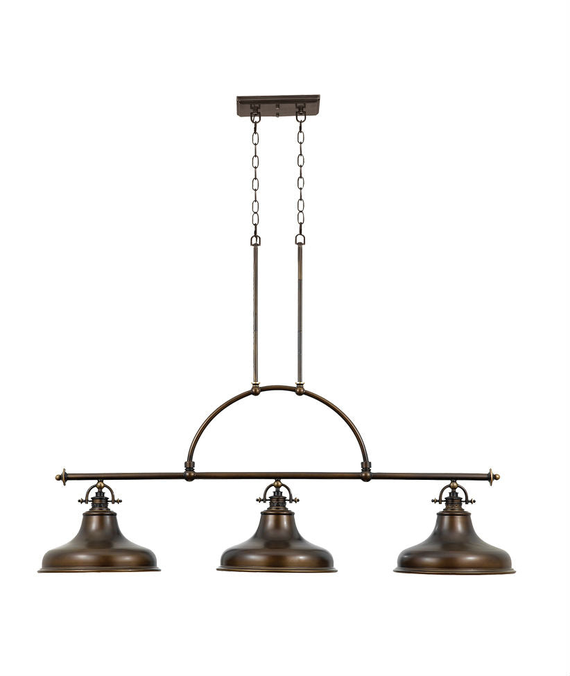 Emery 3 Light Pendant - Palladian Bronze - Magins Lighting Pendant Lead Time: 5 - 6 Weeks Magins Lighting