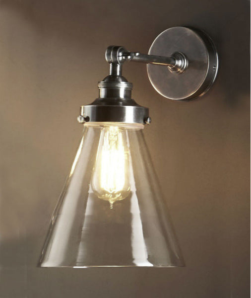 Francis Wall Lamp | Aged Nickel - Magins Lighting Interior Wall Lamps Lead Time: 7 - 10 Days Magins Lighting