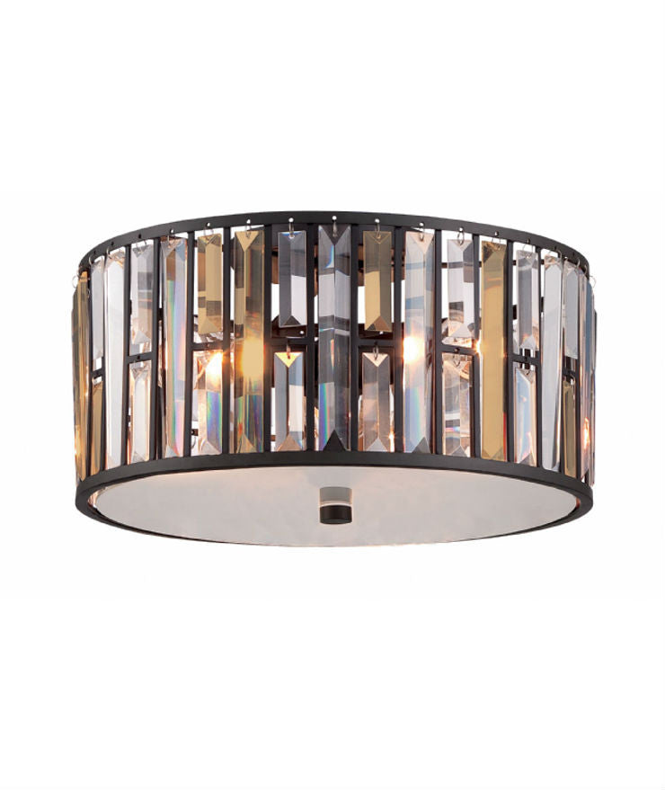 Gemma Flush Mount | Vintage Bronze - Magins Lighting Flush Mount Elstead Lighting Magins Lighting