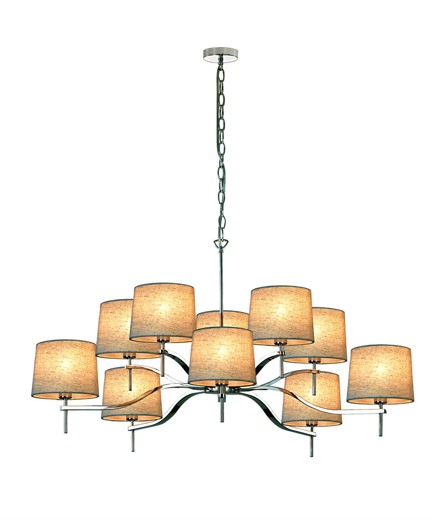 Grace 10 Light | Shimmer Taupe Shade - Magins Lighting Chandelier Viore Magins Lighting