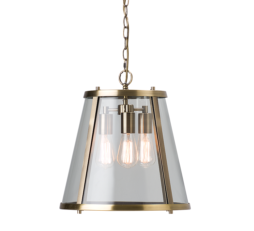 Dijon | Large | Aged Brass - Magins Lighting Ceiling Lantern Magins Lighting Magins Lighting