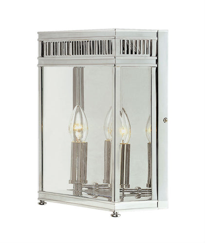 Holborn Wall Lantern | Large | Chrome - Magins Lighting Exterior Wall Lamps Elstead Lighting Magins Lighting