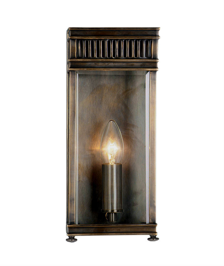 Holborn Wall Lantern | Small | Bronze - Magins Lighting Exterior Wall Lamps Lead Time: 5 - 6 Weeks Magins Lighting