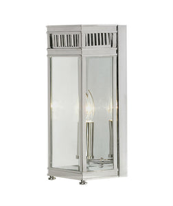 Holborn Wall Lantern | Small | Chrome - Magins Lighting Exterior Wall Lamps Elstead Lighting Magins Lighting