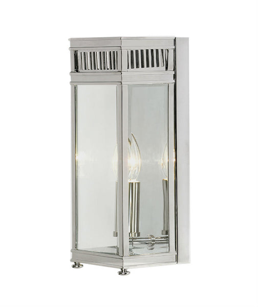 Holborn Wall Lantern | Small | Chrome - Magins Lighting Exterior Wall Lamps Lead Time: 5 - 6 Weeks Magins Lighting