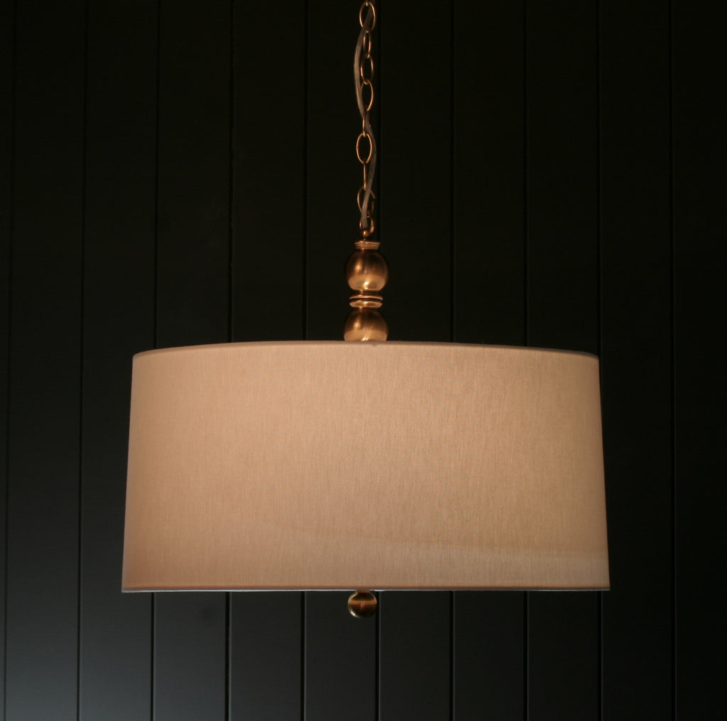 Hudson | Aged Brass with Linen Shade - Magins Lighting Fabric Pendant Lead Time: 5 - 6 Weeks Magins Lighting