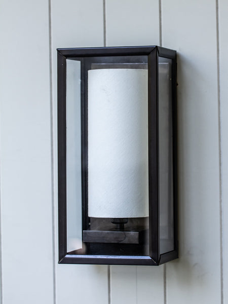 Devonia Wall Lantern w/ Linen Shade - Magins Lighting Wall Lantern Lead Time: 5 - 6 Weeks Magins Lighting