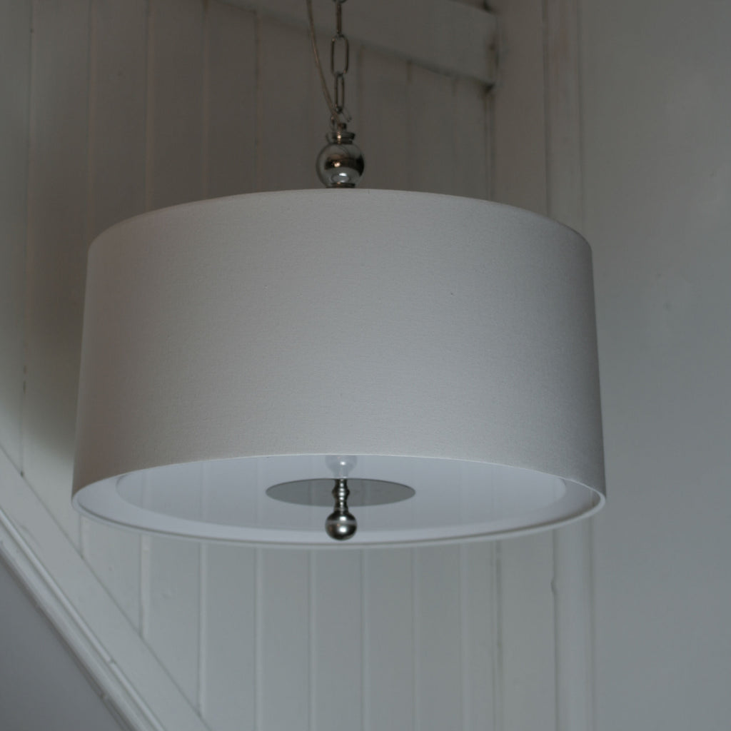 Hampton 3 Light Pendant w/Diffuser - Magins Lighting Fabric Pendant Lead Time: 5 - 6 Weeks Magins Lighting