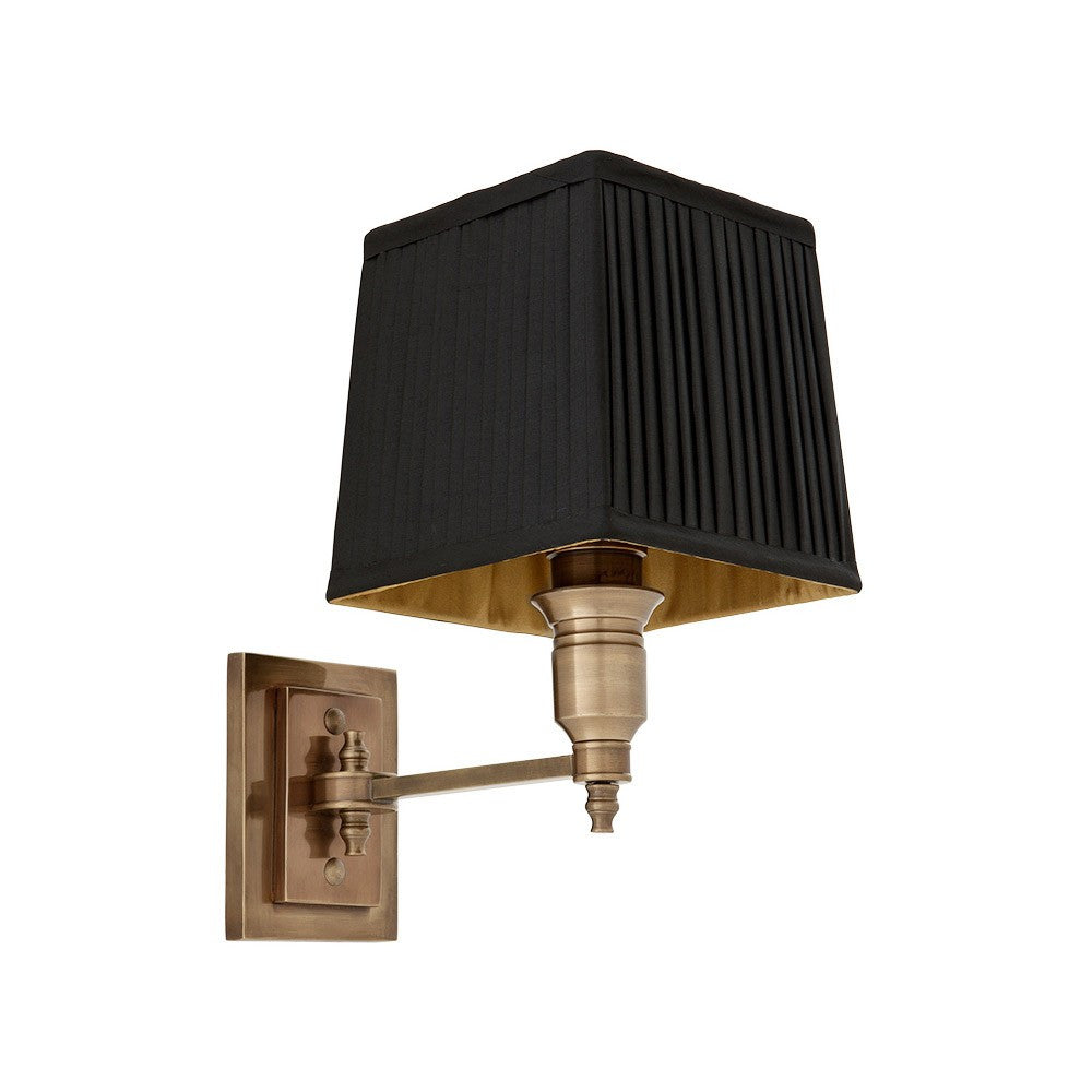 Lexington Single | Aged Brass | Black Shade - Magins Lighting Interior Wall Lamps Lead Time:8 - 10 Weeks Magins Lighting