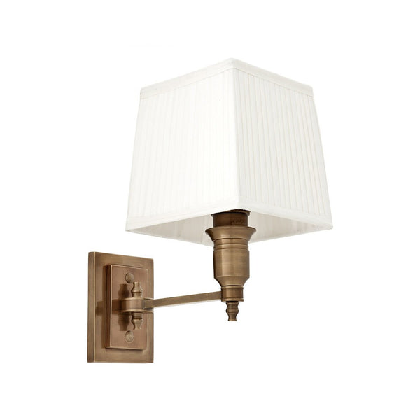 Lexington Single | Aged Brass | White Shade - Magins Lighting Interior Wall Lamps Lead Time:8 - 10 Weeks Magins Lighting
