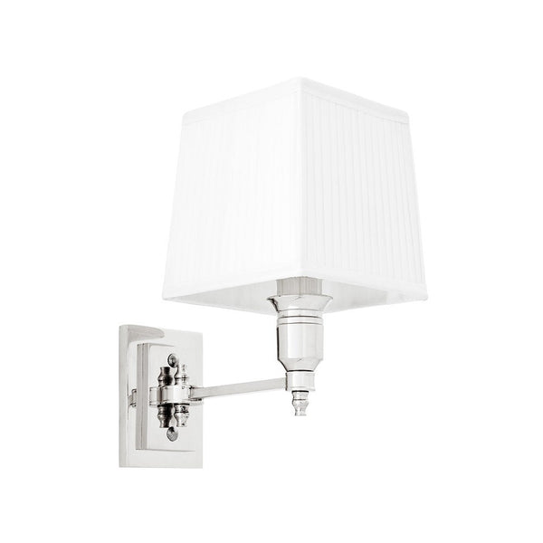 Lexington Single | Polished Nickel | White Shade - Magins Lighting Interior Wall Lamps Lead Time: 8 - 10 Weeks Magins Lighting