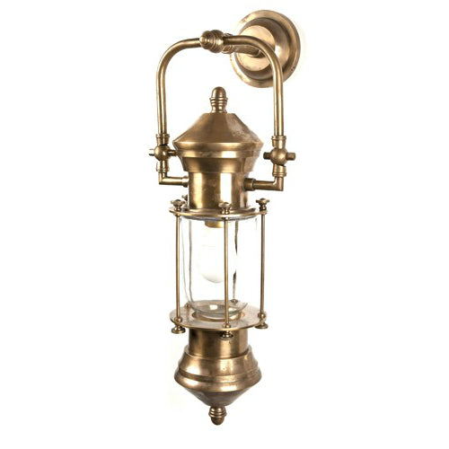 Lisbon Ships Lantern | Aged Brass - Magins Lighting Exterior Wall Lamps Magins Lighting Magins Lighting