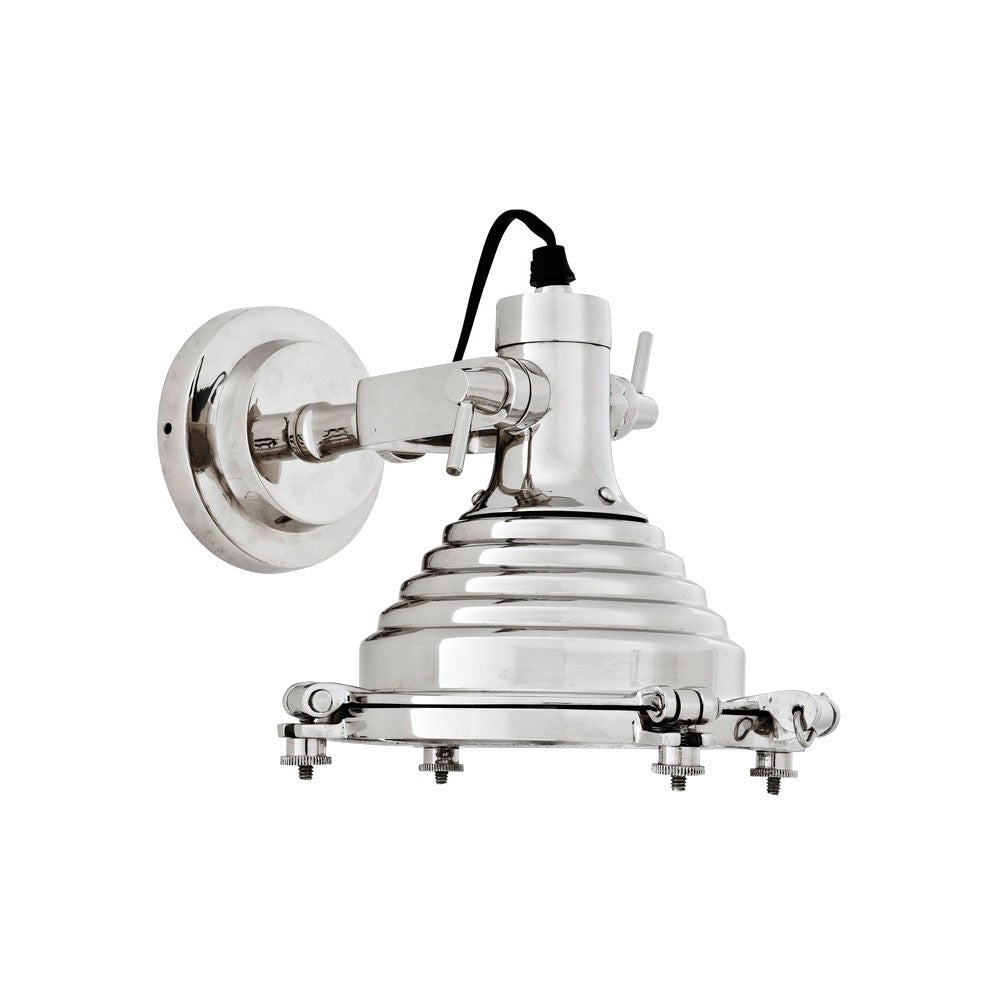 Maritime Wall Lamp | Polished Nickel - Magins Lighting Interior Wall Lamps Lead Time: 5 - 6 Weeks Magins Lighting