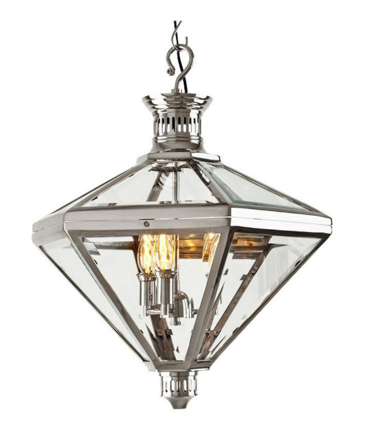 Mistery Lantern | Polished Nickel - Magins Lighting Lantern Lead Time: 5 - 6 Weeks Magins Lighting