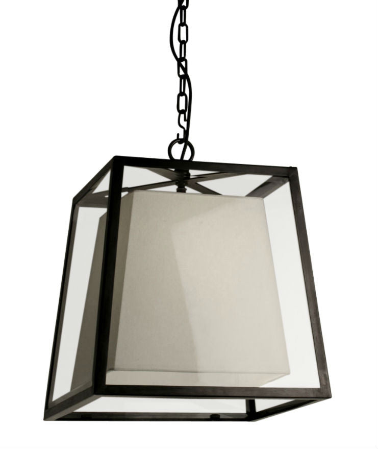 Norfolk Lantern Large | Linen Shade - Magins Lighting Ceiling Lantern Lead Time: 8 - 10 Weeks Magins Lighting