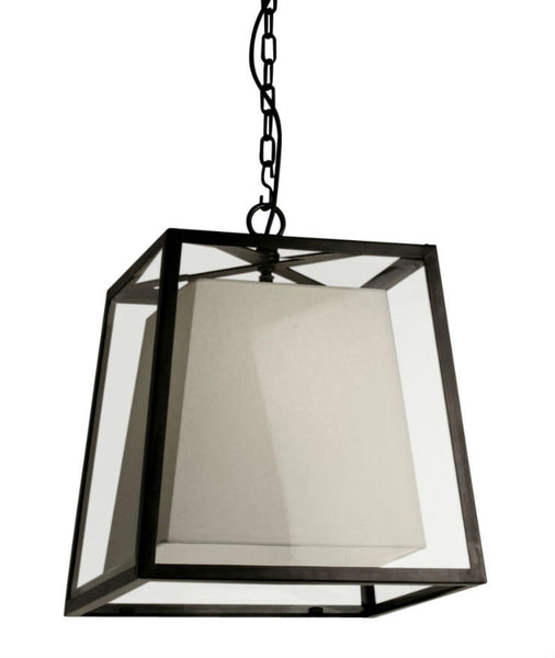 Norfolk Lantern Large | Linen Shade - Magins Lighting Ceiling Lantern Lead Time: 5 - 6 Weeks Magins Lighting