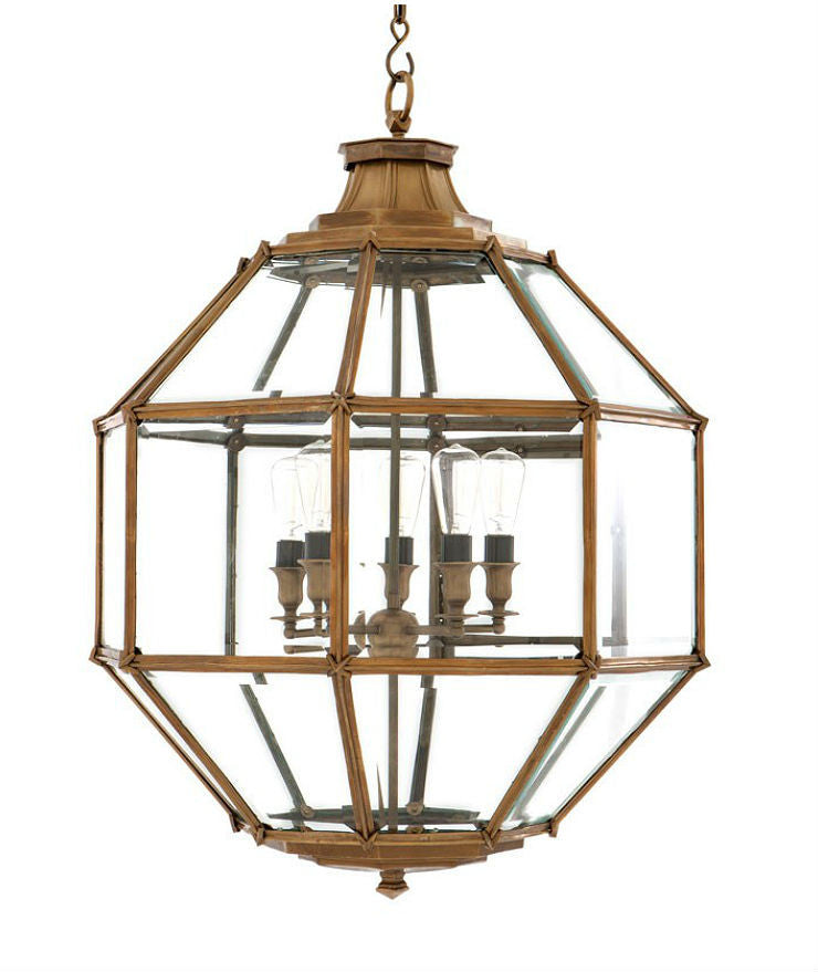 Owen Lantern | Large | Aged Brass - Magins Lighting Lantern EM Lighting Magins Lighting