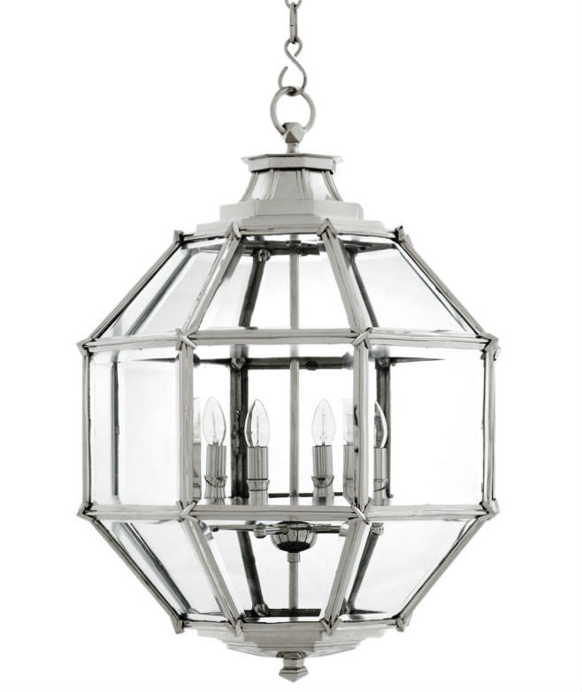 Owen Lantern | Large | Polished Nickel - Magins Lighting Lantern EM Lighting Magins Lighting