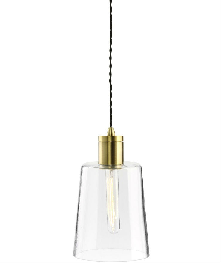Parlour | Round - Round | Aged Brass - Magins Lighting Glass Pendant Lighting Republic Magins Lighting