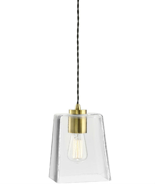 Parlour | Square - Square | Aged Brass - Magins Lighting Glass Pendant Lighting Republic Magins Lighting