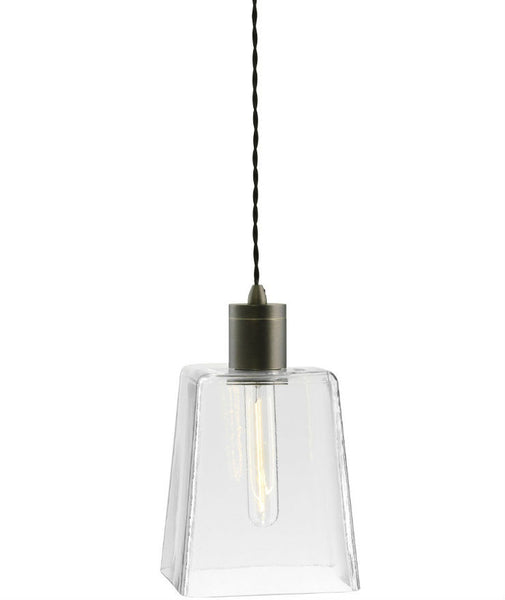 Parlour | Square - Square | Bronze - Magins Lighting Glass Pendant Lead Time: 1 - 2 Weeks Magins Lighting