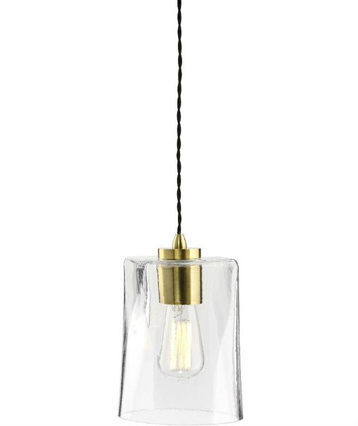 Parlour | Square - Round | Aged Brass - Magins Lighting Glass Pendant Lighting Republic Magins Lighting