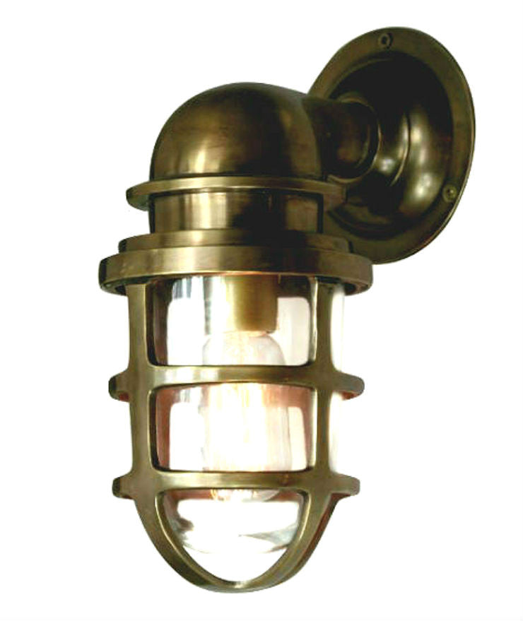 Porto | Aged Brass - Magins Lighting Exterior Wall Lamps Usually dispatches within 2-3 days. Please contact us to confirm prior to placing your order. Magins Lighting