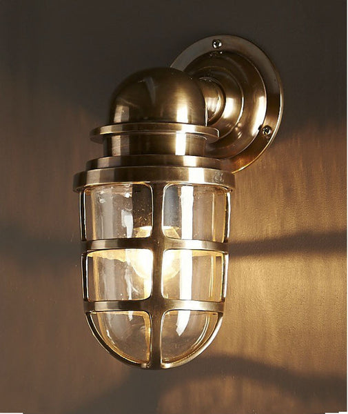 Porto | Aged Brass - Magins Lighting Exterior Wall Lamps Lead Time: 7 - 10 Days Magins Lighting