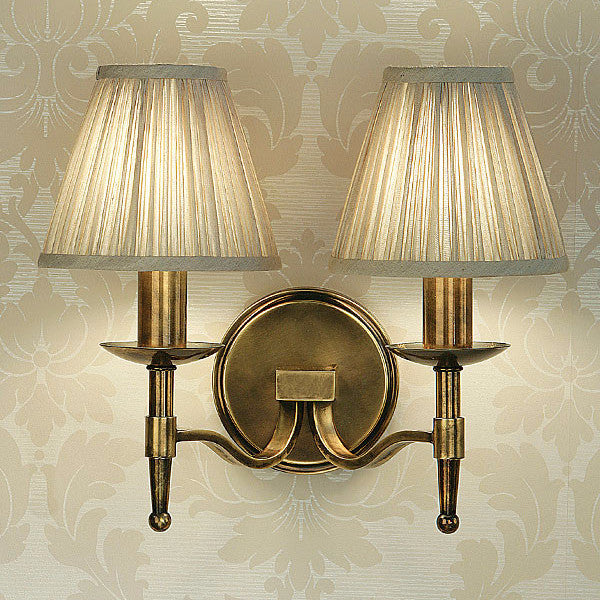 Stanford 2 Light Wall Lamp | Oxodised Brass - Magins Lighting Interior Wall Lamps Lead Time: 1 - 2 Weeks Magins Lighting
