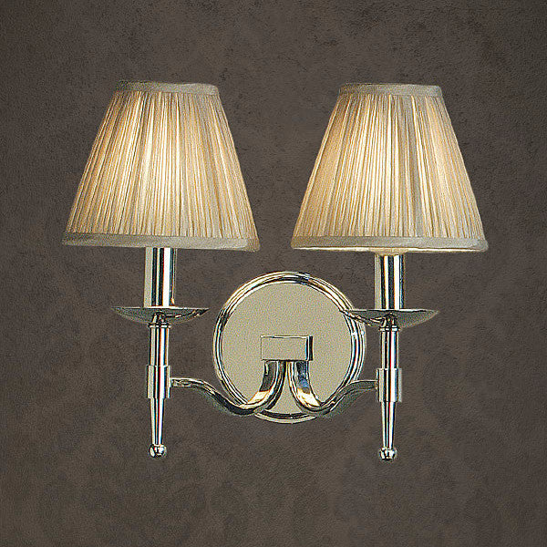Stanford 2 Light Wall Lamp | Polished Nickel - Magins Lighting Interior Wall Lamps Lead Time: 1 - 2 Weeks Magins Lighting