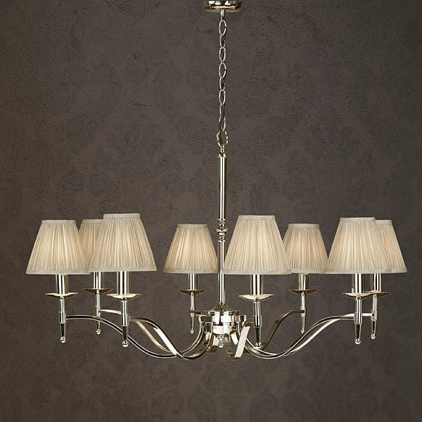 Stanford 8 Light Chandelier | Polished Nickel - Magins Lighting Chandelier Viore Magins Lighting