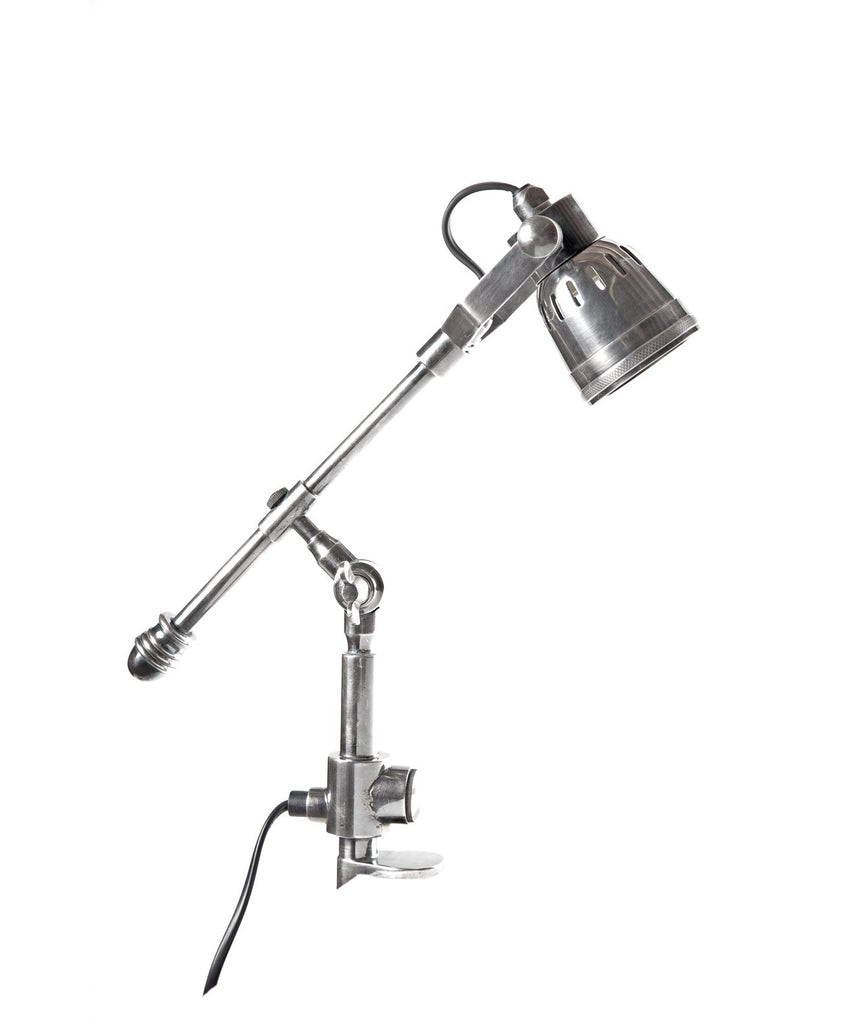 Seattle Clamp Lamp - Aged Nickel - Magins Lighting Desk & Floor Lamps Lead Time: 7 - 10 Days Magins Lighting