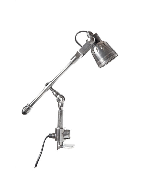 Seattle Clamp Lamp - Aged Nickel - Magins Lighting Desk & Floor Lamps Usually dispatches within 2-3 days. Please contact us to confirm prior to placing your order. Magins Lighting