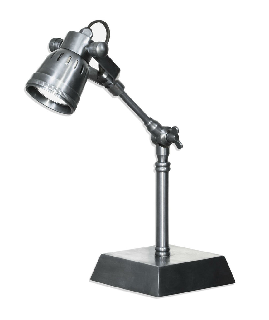 Seattle Desk Lamp - Aged Nickel - Magins Lighting Desk & Floor Lamps Usually dispatches within 2-3 days. Please contact us to confirm prior to placing your order. Magins Lighting