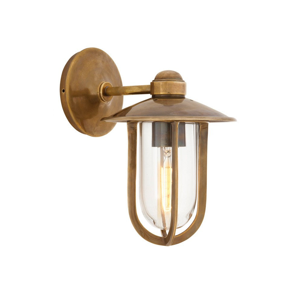 Seg Harbour Wall Lamp | Aged Brass - Magins Lighting Interior Wall Lamps Lead Time: 5 - 6 Weeks Magins Lighting