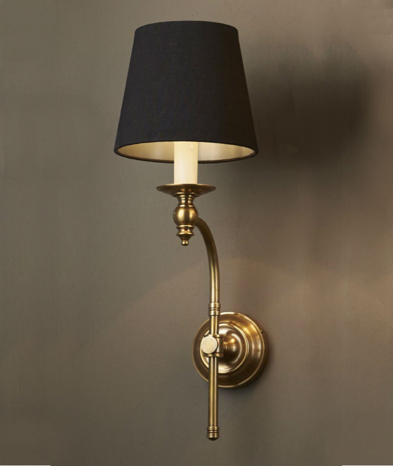 Soho Wall Lamp with Shade | Aged Brass - Magins Lighting Interior Wall Lamps Lead Time: 7 - 10 Days Magins Lighting
